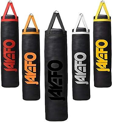 6/' THAI BOXING Heavy punching bag Boxing Kickboxing Muay Thai  Unfilled blk.