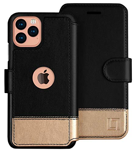 LUPA iPhone 12/12 Pro Wallet Case -Slim iPhone 12/12 Pro Flip Case with Credit Card Holder, for Women & Men, Faux…