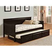 Furniture of America Gregory English Platform Daybed with Trundle, Espresso
