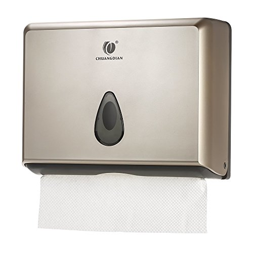 BBX Lephsnt CHUANGDIAN Wall-Mounted Bathroom Paper Towel Dispenser (Champagne Gold) by BBX Lephsnt