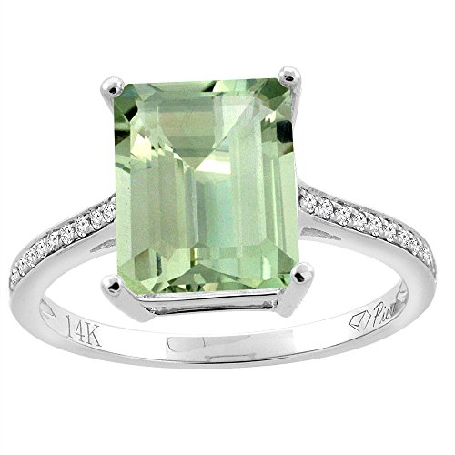 14k Octagon Gemstone Ring - 7