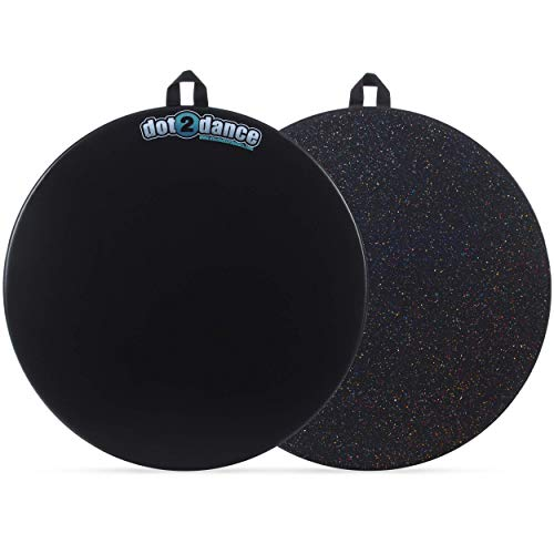 dot2dance Genuine Brand Portable Marley Dance Floor(24) Double-Sided,Turnboard,Tap Board & Beyond.Its Your Safe SPOT on a DOT! - Petite Size 24 Diameter