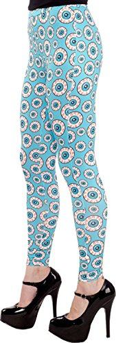Sourpuss Aqua Blue Optical Delusion Leggings from Clothing -