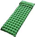 """Sleeping Pad for Camping Backpacking, Thickened 3.7"""" & Widened 27.5"""" Ultralight Compact Camping"""
