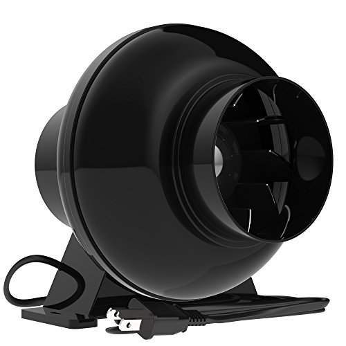 VIVOSUN 4 Inch 195 CFM Inline Duct Ventilation Fan Vent Blower for Grow ()
