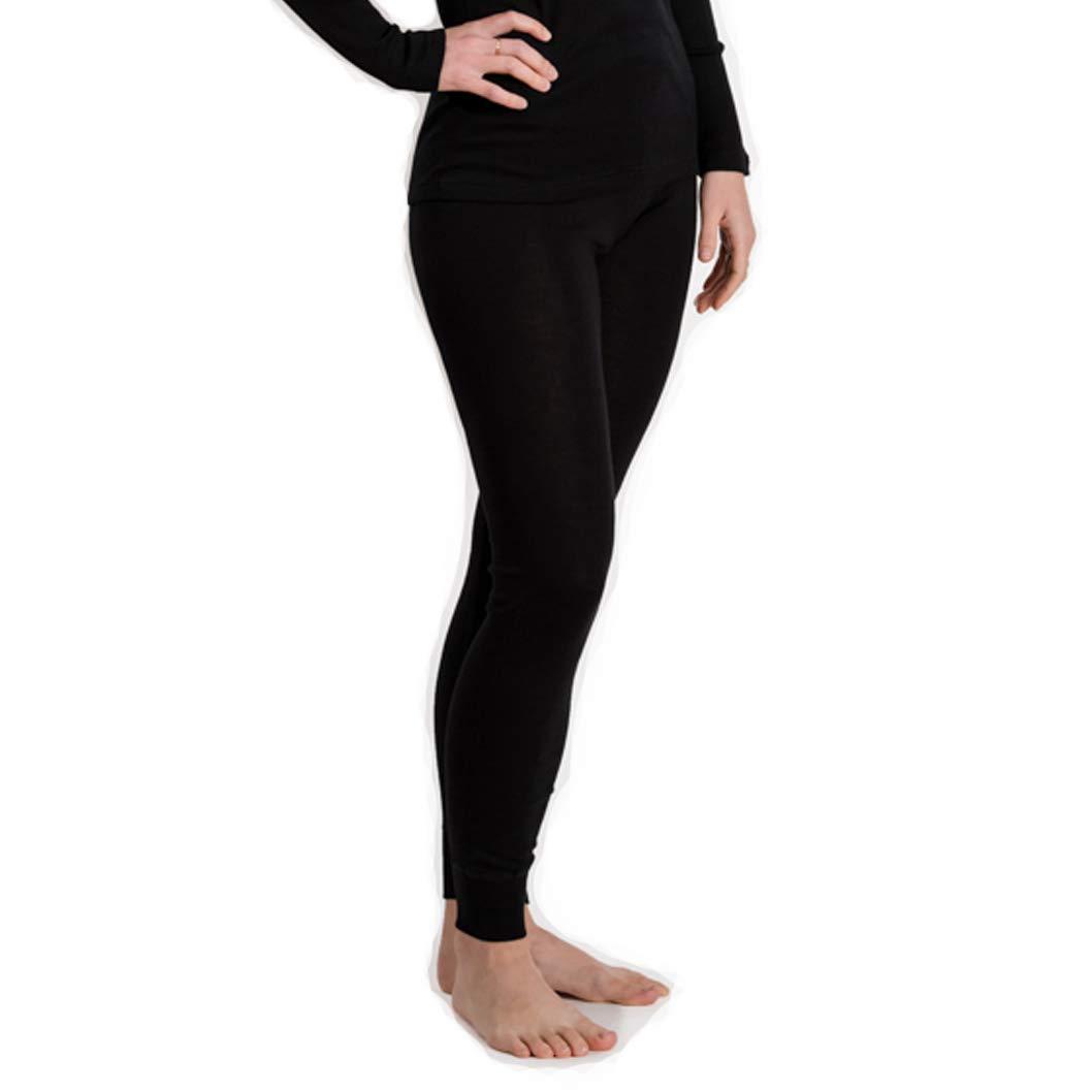 Hocosa Women's Long-Underwear Pants, Organic Wool-Silk, Black, s. 36/US 6 by Hocosa of Switzerland