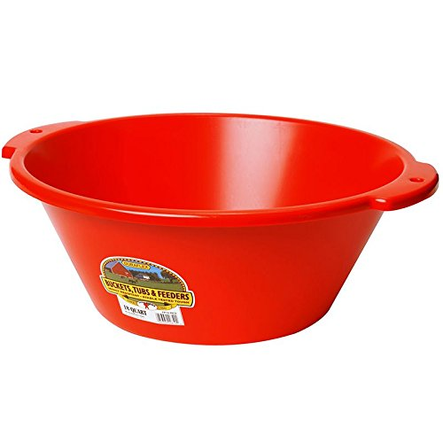 - Little Giant FP18RED Dura-Flex Plastic Feed Pan, 18-Quart, Red