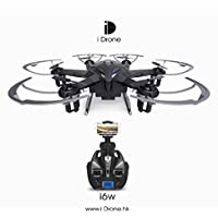 Owill iDrone i6W Wifi FPV Live HD Camera RC Flying Quadcopter 2.4G 6-Axis Gyro ABS Plastic Body (Black)