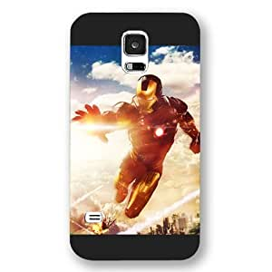 New Zeng Customized Marvel Series Case for Samsung Galaxy S5, Marvel Comic Hero Ironman Samsung Galaxy S5 Case, Only Fit for Samsung Galaxy S5 (Black Frosted Case)