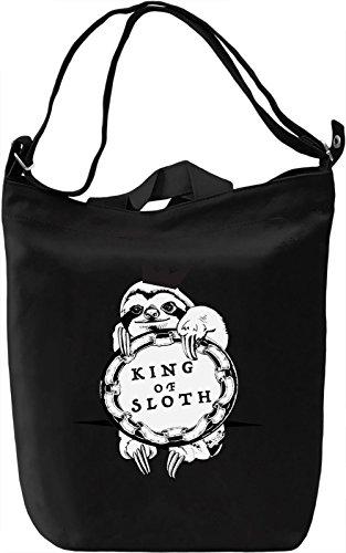 King Of Sloth Borsa Giornaliera Canvas Canvas Day Bag| 100% Premium Cotton Canvas| DTG Printing|