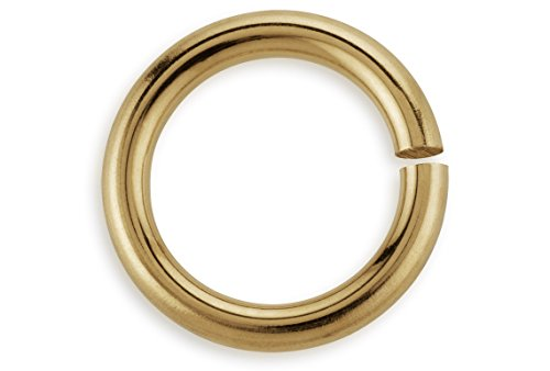 - 100 Pieces Open Jump Rings 14Kt Gold Filled 4mm 22 Gauge