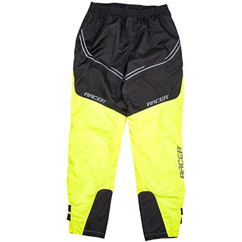 Racer FLEX Regenhose Motorrad - fluo gelb schwarz Größe 6XL