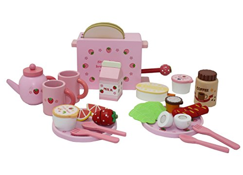 Berry Toys Complete Healthy Breakfast Wooden Play Food Set