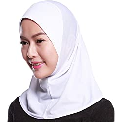 GladThink Womens Muslim Mini Hijab Scarf With More colors White