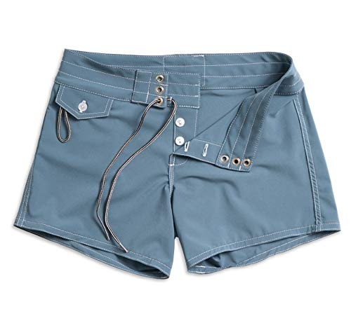 Birdwell Women's Stretch Board Shorts - Long Length (Light Blue, 10) by Birdwell Beach Britches (Image #6)