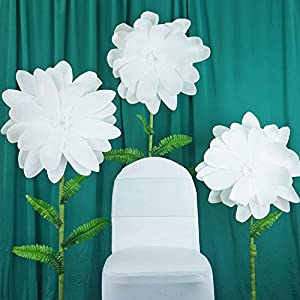 "BalsaCircle 2 24"" Wide Artificial Dahlia Flowers for Wall Backdrop - Wedding Party Craft DIY Decorations Arrangements Centerpieces 40"