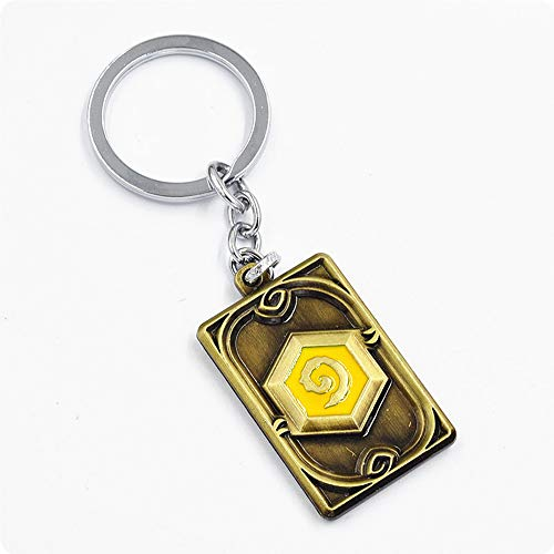Hearthstone Card Package Keychain, The Coin Keychain Hearthstone Derivative 2PCS Gold & Silver