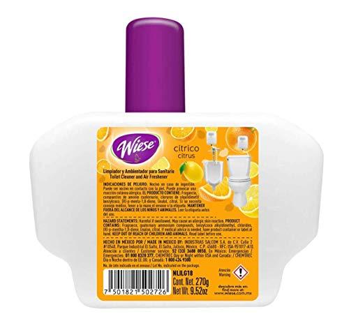 Drip Liquid Deodorizer 9.52 oz. Refill, Citrus, for Wiese Dispenser