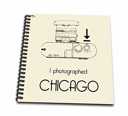 3dRose Kike Calvo Photo Illustrations And Photography Quotes - I photograph. Chicago - Drawing Book 8 x 8 inch (db_14990_1)