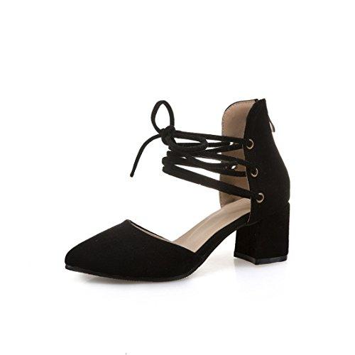 trentotto i dimensioni grandi signore sandali moda sandali heeled appuntito sandali dei black high sandali OdqxHax