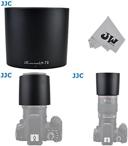 JW emall Micro Fiber Cleaning Cloth JW LH-73 Lens Hood Shade for Canon EF 100mm f//2.8L Macro is USM Replaces ET-73