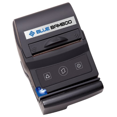 P25-m Blue Bamboo Receipt Printer with Magnetic Stripe Reader for Ios Apple and Android Device By Pac Supplies Usa by PAC Supplies USA