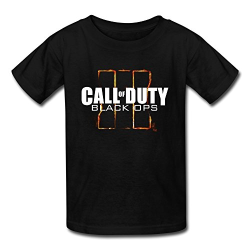 Price comparison product image YUTUO Kid's Black Ops 3 Call Of Duty Game Logo 100% Cotton T-shirt Black M