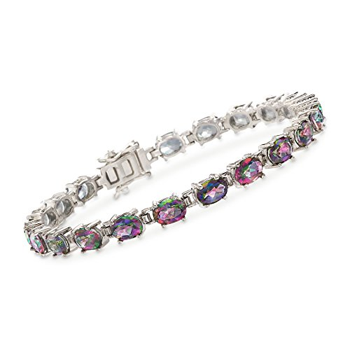 Ross-Simons 17.00 ct. t.w. Multicolored Topaz Tennis Bracelet in Sterling (Multi Colored Topaz Bracelet)