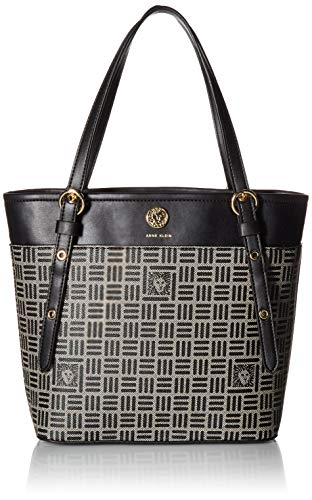 Anne Klein Printed Logo Small Tote, Natural Black ()