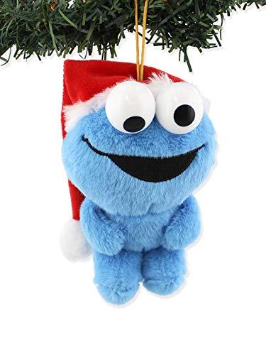 Cinemaware - Kurt S Adler Inc Sesame Street Elmo Cookie Monster Plush Christmas Holiday Ornament Gift Boxed (One Size, Cookie Monster)