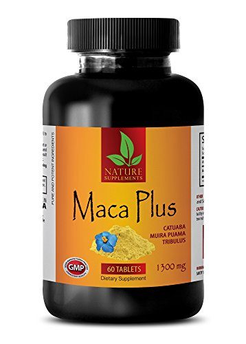 Increase libido in men - MACA PLUS 1300mg - Maca pills for weight gain - 1 Bottle 60 Tablets