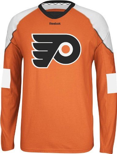 f51bb6cda Amazon.com   NHL Philadelphia Flyers Men s Edge Long Sleeve Jersey ...