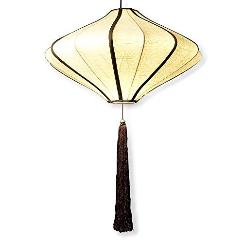 ChinaFurnitureOnline Hanging Lamp, Chinese Imperial Lantern with Silk Shade