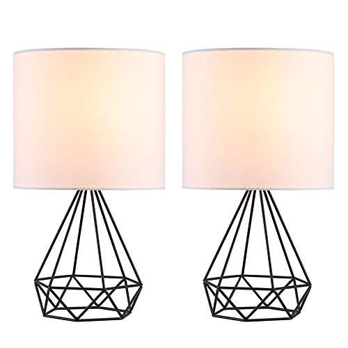 Co Z Modern Table Lamps For Living Room Bedroom Set Of 2 Black