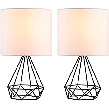 Co Z Modern Table Lamps For Living Room Bedroom Set Of 2