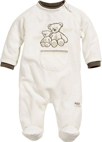 Schnizler Unisex Baby Schlafstrampler Schlafanzug Nicki Bär, Oeko Tex Standard 100, Gr. 68, Beige (natur 2)