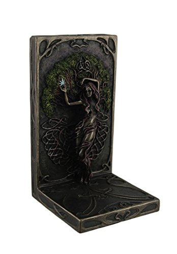 Polyresin Decorative Bookends Selina Fenech Earth Life Magic Antique Bronze Finish Bookend 4.5 X 8 X 4.5 Inches Bronze Antique Bronze Bookends