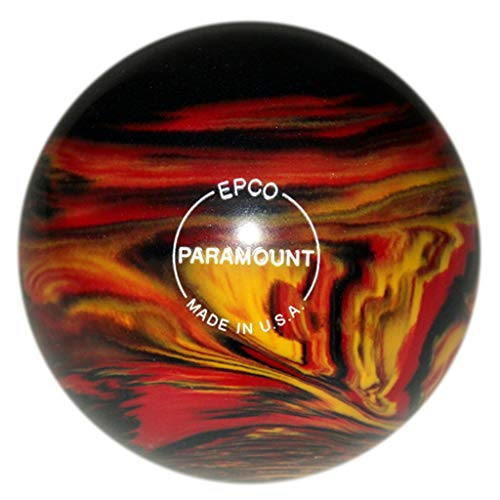 "Bowlerstore Products Duckpin Paramount Marbleized Bowling Ball 5""- Black/Red/Yellow 3lbs 8oz"