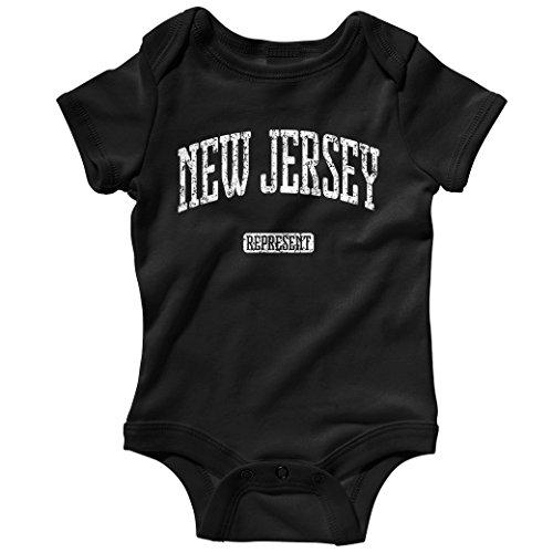 Smash Vintage Baby New Jersey Represent Creeper - Black, - Nj Shore Hills