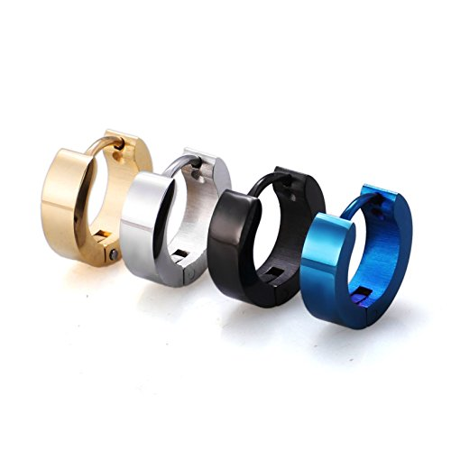 BBX Jewelry Stainless Steel Mens Womens Hoop Earrings Piercings Huggie Hypoallergenic 9mm