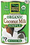 Native Forest Simple Organic Unsweetened Coconut Milk, 13.5 Fluid Ounce (Pack of 21) (Pack of 21)...