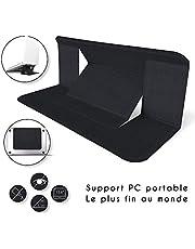 BRAVO ALFRED Support Ordinateur Portable innovant pour Ordinateur Portable et tablettes - Laptop Stand 22X17cm pour rehausseur ecran pc 3 Niveaux [Adjustable Standing Desk Support ecran pc]