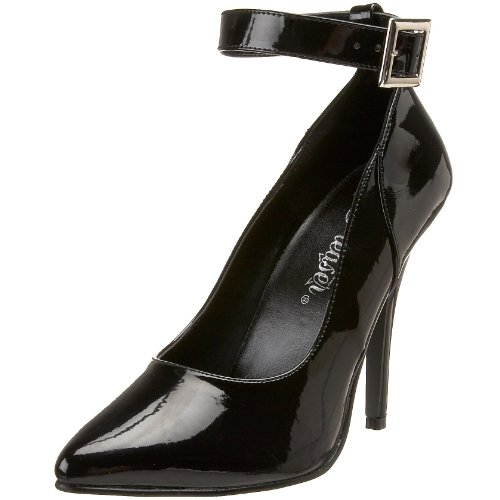 Women's 5 Inch Ankle Strap Pump (Black;13) -  PLEASER USA INC., SED431/B_BLK