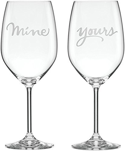 Kate Spade New York Two Of A Kind Mine   Yours Wine Glass Pair By Lenox