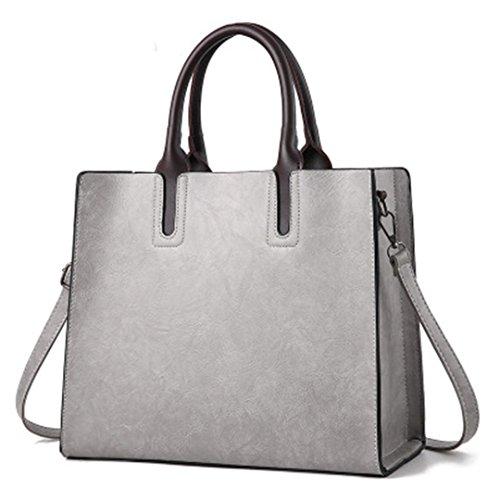 Las mujeres bolsos de cuero pu señoras bolso cuadrados hembra grande bolsas de hombro Bolsas Femininas Sac a Main marrón rojo negro Gray