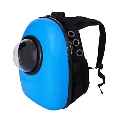 Baoblaze Bolso de Cápsula Astronauta Complimentos de Mascotas Portador Accesorios Diseño de Ventana Transparente - Azul