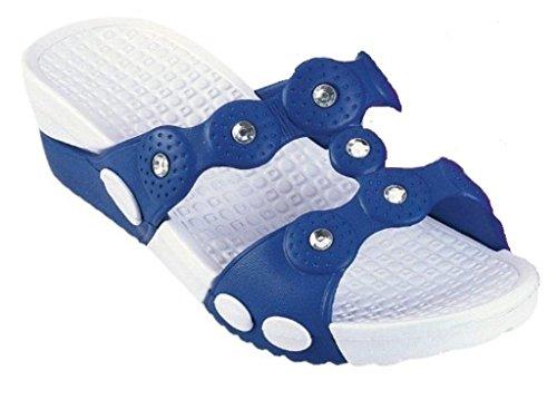 DEMA pantofole ciabatte donna in GOMMA con ZEPPA mod. CORONA BLU