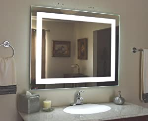 Amazon wall mounted lighted vanity mirror led mam84432 wall mounted lighted vanity mirror led mam84432 commercial grade 44x32 aloadofball Gallery