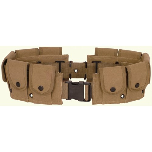 [Ultimate Arms Gear Tactical Khaki Tan, Utility Pouch, Cartridge Ammo Tool, Heavy Duty Cotton Canvas] (Tool Belt Costume)