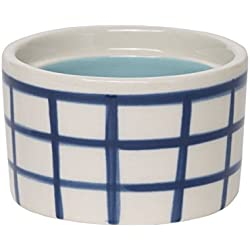 "C.R. Gibson ""K Monogram Blue Checkered and Blue Interior Small Ceramic Trinket and Jewelry Box, 2.5"" W x 2"" H x 2.5"" D"